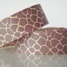 """1 Yard 7/8"""" Deer Print Grosgrain Ribbon, Animal, Jungle Safari, Hair Bow, Scrapbooks, R181"""
