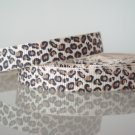 "1 Yard 3/8"" Leopard Print Grosgrain Ribbon, Animal, Jungle Safari, Hair Bow, Scrapbooks, R184"