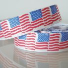 "1 Yard of 5/8"" American Flag Satin Ribbon Memorial Independence July 4th Freedom, Patriotic, R157"