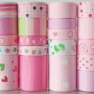 20 Yards Ribbon Lot, It's A Girl! Baby Shower, Toys Bottles Pacifiers Feet Baptism, Pink, S26