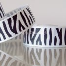 "1 Yard 5/8"" (16mm) Zebra Ribbon, Black & White, Wild Animal, Zoo, Party, Jungle, R66"