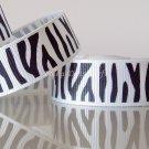 "1 Yard 5/8"" (16mm) Zebra Ribbon, Black & White, Wild Animal, Zoo, Party, Jungle, R66"