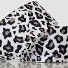 "1 Yard ""Black & White Leopard"" Grosgrain Ribbon, Zoo, Jungle Safari, Wild Animal, Hair Bows, R61"