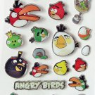 6 Sheets of Angry Birds Puffy Stickers, Kids Birthday Party Goody Bags, Favors, Scrapbooks