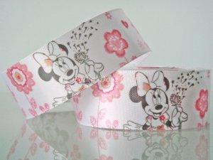 "1 Yard of 1"" Disney Minnie Mouse Satin Ribbon, Pink, Hair Bows, Scrapbooks, R248"