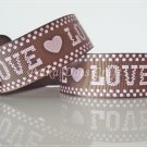 "1 Yard of 1"" Love & Heart Grosgrain Ribbon, Bridal Party Mother's Day Valentine's, Scrapbooks, R100"