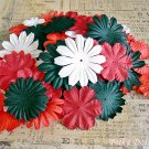 100 pcs of Paper Flowers Petals, Embellishments, Scrapbooks, Red, Black, White Colors, F4