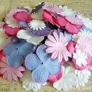 150 pcs of Paper Flowers Petals, Embellishments, Scrapbooks, White, Rose Pink, Purple Colors, F5