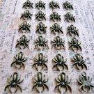 24 pcs Antique Spiders Charms Vintage Bronze Plated Dangles Bracelets Pendants, O57