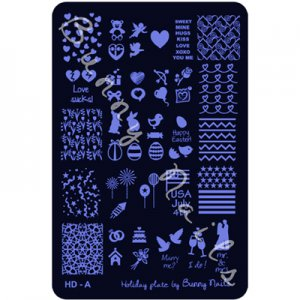 HD-A Nail Art stamp Plate