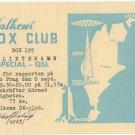 1950s Special QSL transmission Falkens DX-club - Sweden