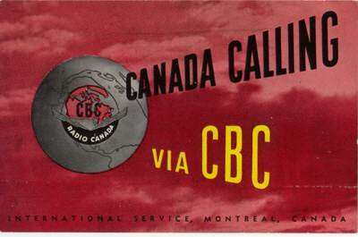 1950s QSL Radio CANADA CBC - CKCS - Sweden Shop