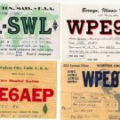 4 SWL-QSL cards from USA -1960s - Sweden Shop
