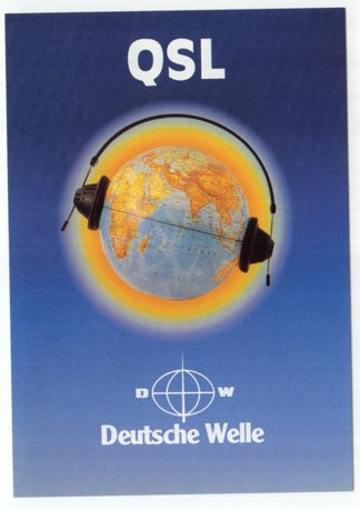 QSL 1980s Radio DEUTSCHE WELLE Germany - Sweden Shop