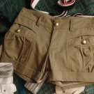** Shorts with Gold Buttons **