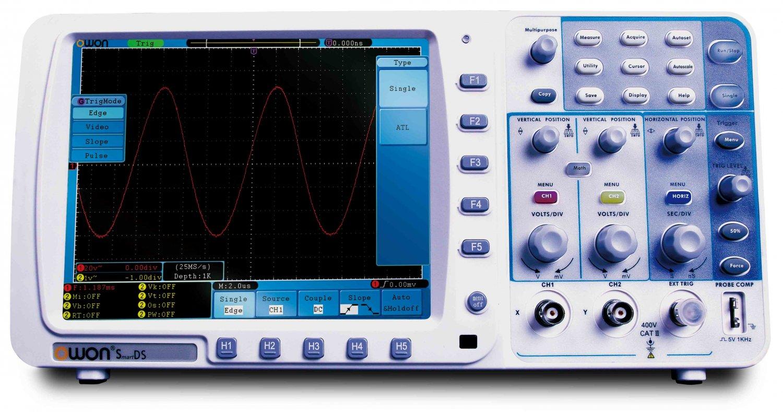 Owon Oscilloscope Display : Owon sds v mhz gss channel oscilloscope w vga port