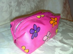 Pink Flowery Pouch