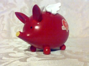 Red Colour Therapy Piggy Bank