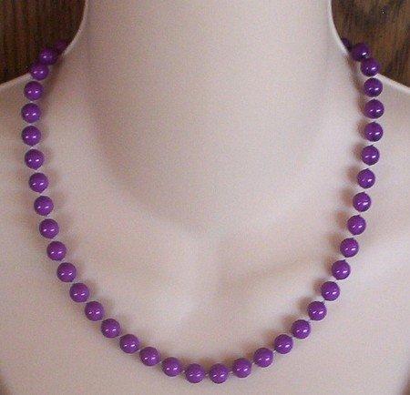 Purple Bead Necklace 1970's Vintage