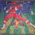 Older 1994 Power Rangers Sleeping Bag Blanket