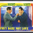 Movie Poster Postcard 1941 They Dare Not Love Large Size Trash Films