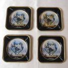 New York Worlds Fair Vintage 1960's Set of 4 Coasters Ashtrays Fabcraft Made in the U.S.A.