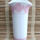 Fancy Pink & White Ceramic Vase Vintage 80's FTD
