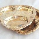 Serving Trays Set Silver Plated Fancy Ornate Design Vintage