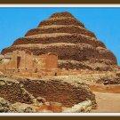 Vintage Postcard Egypt King Zoser's Step Pyramid