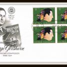 Honoring George Gershwin Envelope Stamps First Day Cover Issue 1973 Vintage