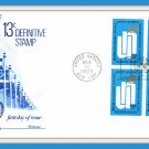 United Nations 13¢ Definitive Stamp First Day Cover Issue Envelope 1969