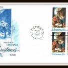 Season's Greetings Christmas 1970 First Day Cover Issue Envelope Stamps