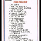 1983 Donruss #44 Hall Of Fame Heroes Checklist Baseball Trading Card