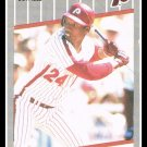 1989 Milt Thompson #584 Fleer Baseball Trading Card