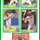 1990 Score Baseball Trading Cards Brian Holton Curt Ford Eric Davis Bud Black Mark Langston