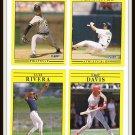 1991 Fleer Baseball Trading Cards Doug Jennings Neal Heaton Eric Davis Luis Rivera Dan Pasqua