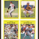 1991 Fleer Baseball Trading Cards Eric Anthony David Hollins Jesse Orosco Lee Stevens