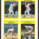 1991 Fleer Baseball Trading Cards Mark Knudson Kurt Stillwell Thomas Howard Roy Smith