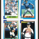1990 Topps Baseball Trading Cards Willie McGee Jim Deshaies Chris James Phil Bradley