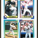 1990 Topps Baseball Trading Cards Lance Parrish Lee Smith Cris Carpenter Fred Toliver