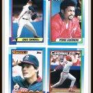 1990 Topps Baseball Trading Cards Greg Swindell Pedro Guerrero Brian Downing Jose Oquendo