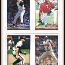 1991 Baseball Trading Cards Topps 40 Years Joe Girardi Ken Howell Gene Harris Donnie Hill