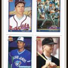 1991 Baseball Trading Cards Topps 40 Years Tino Martinez Craig Lefferts Marty Clary