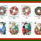 Christmas Stamps U.S United States 1998-2001