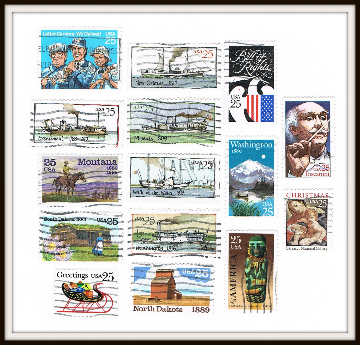 1989 United States USA Commemorative Stamps