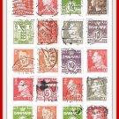 Denmark Postage Stamps Vintage