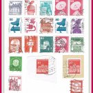 German Deutsche Bundespost Postage Stamps Cancelled
