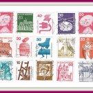 German Deutsche Bundespost Postage Stamps Cancelled 21