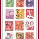 United States USA Postage Stamps 12 Vintage
