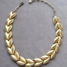 Gold Flower Petal Vintage Necklace Retro 1960's